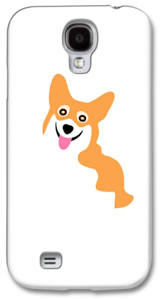 Smiling Corgi Pup Galaxy S4 Case by Antique Images