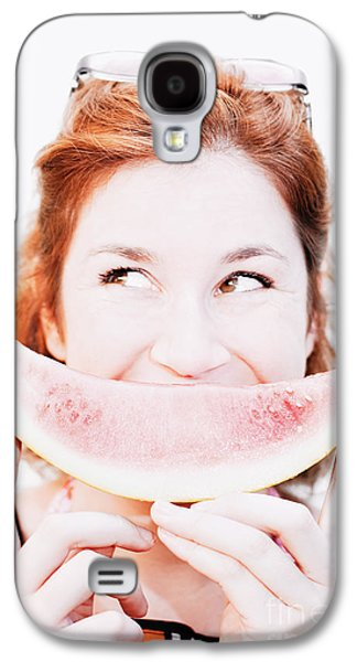 Smiling Summer Snack Galaxy S4 Case by Jorgo Photography - Wall Art Gallery