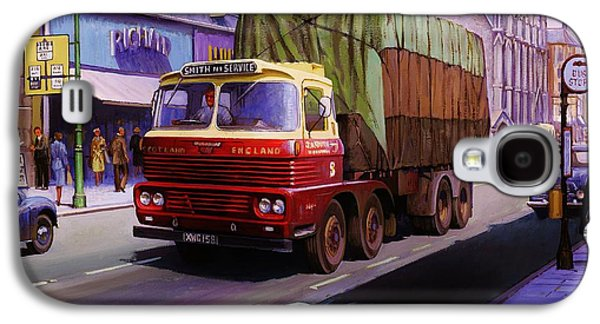 Streetscenes Paintings Galaxy S4 Cases - Smiths Scammell Routeman II Galaxy S4 Case by Mike  Jeffries