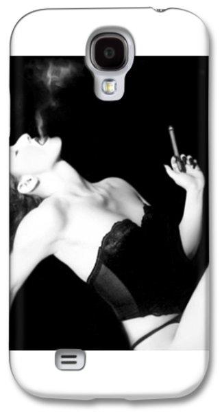Smoke And Seduction - Self Portrait Galaxy S4 Case by Jaeda DeWalt