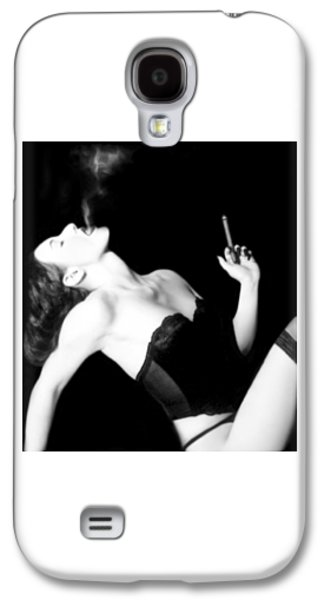 Mysterious Galaxy S4 Cases - Smoke and Seduction - Self Portrait Galaxy S4 Case by Jaeda DeWalt