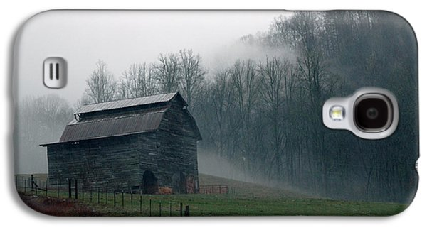 Old Barns Galaxy S4 Cases - Smokey Mountains Barn Galaxy S4 Case by Kathy Schumann
