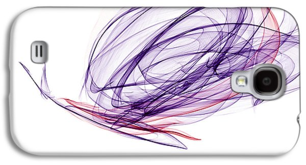 Smooth As Silk Butterfly Galaxy S4 Case by Abstract Angel Artist Stephen K