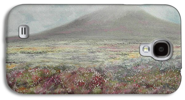 Autumn Landscape Pastels Galaxy S4 Cases - Snaefell Heather Galaxy S4 Case by Stanza Widen
