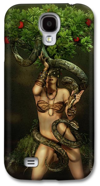 Reptiles Digital Galaxy S4 Cases - Snake Charmer Galaxy S4 Case by Shanina Conway