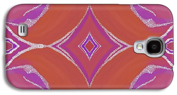 Abstract Digital Tapestries - Textiles Galaxy S4 Cases - Sno Capped Dreamings Galaxy S4 Case by Suzi Freeman