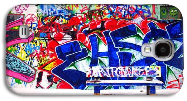Tara Turner Galaxy S4 Cases - Snow and Graffiti Galaxy S4 Case by Tara Turner