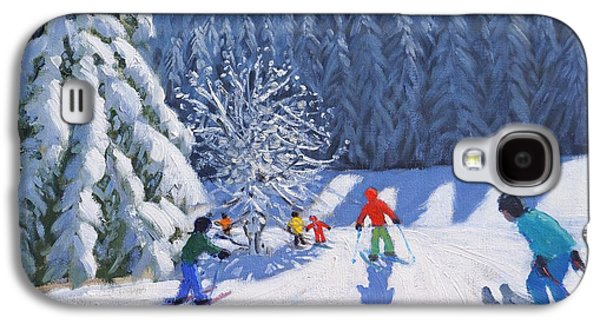 Snow-covered Landscape Galaxy S4 Cases - Snow Covered Trees Galaxy S4 Case by Andrew Macara