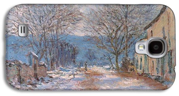 Trees In Snow Galaxy S4 Cases - Snow in Limetz   Effet de neige a Limetz Galaxy S4 Case by Claude Monet