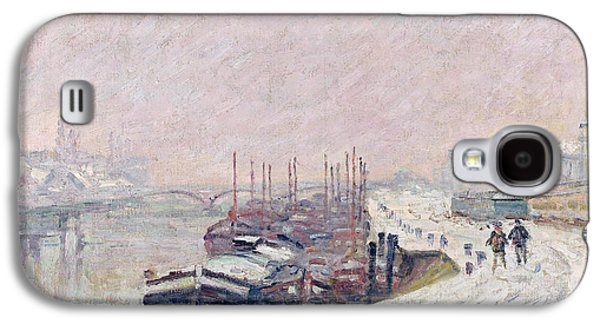Snow Paintings Galaxy S4 Cases - Snow in Rouen Galaxy S4 Case by Jean Baptiste Armand Guillaumin