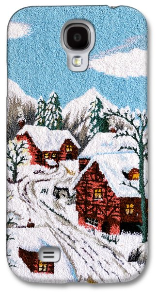 Village Tapestries - Textiles Galaxy S4 Cases - Snow in village Galaxy S4 Case by Mimoza Xhaferi