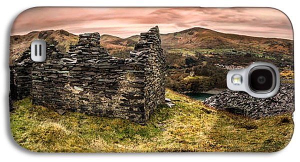 Dilapidated Digital Galaxy S4 Cases - Snowdonia Ruins Panorama Galaxy S4 Case by Adrian Evans