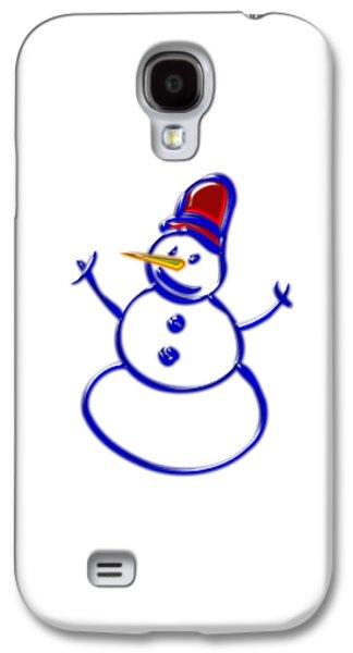 Celebration Galaxy S4 Cases - Snowman Galaxy S4 Case by Anastasiya Malakhova