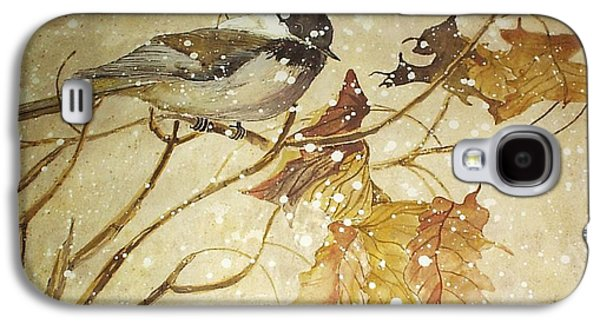 Wildlife Celebration Paintings Galaxy S4 Cases - Snowy bird Galaxy S4 Case by Darren Cannell