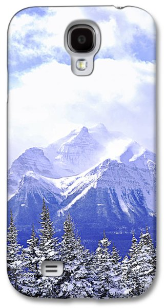Snow-covered Landscape Galaxy S4 Cases - Snowy mountain Galaxy S4 Case by Elena Elisseeva