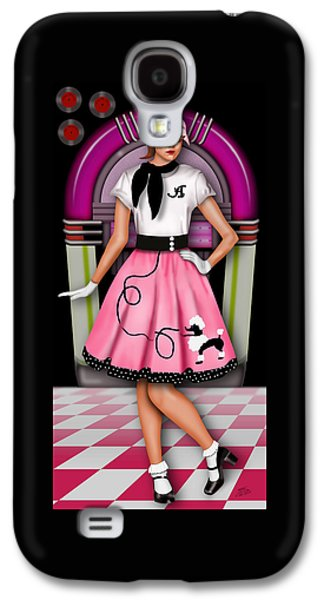 Hop Drawings Galaxy S4 Cases - Sock Hop Galaxy S4 Case by Troy Brown
