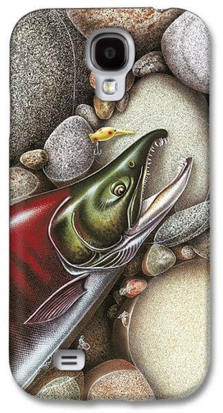 Salmon Paintings Galaxy S4 Cases - Sockeye Salmon Galaxy S4 Case by JQ Licensing