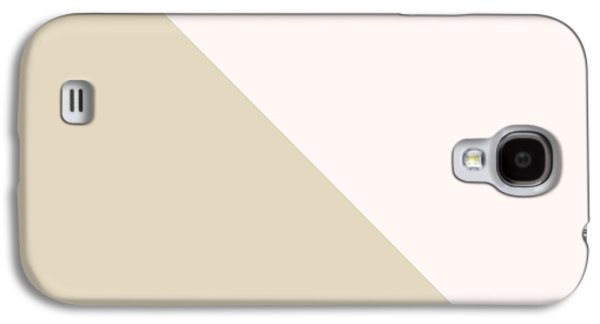 Geometric Shape Galaxy S4 Cases - Soft Blush and Champagne Galaxy S4 Case by Linda Woods