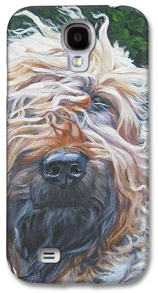Terrier Galaxy S4 Cases - Soft Coated Wheaten Terrier Galaxy S4 Case by Lee Ann Shepard