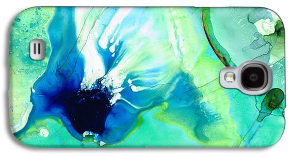 Soft Green Art - Gentle Guidance - Sharon Cummings Galaxy S4 Case by Sharon Cummings