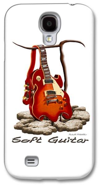 Shirt Digital Galaxy S4 Cases - Soft Guitar - 3 Galaxy S4 Case by Mike McGlothlen