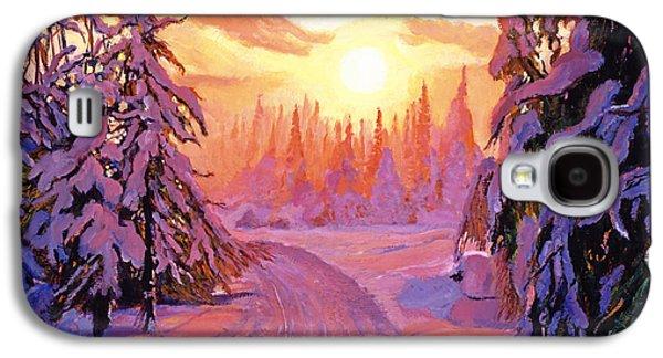 Soft Snow Sunrise Galaxy S4 Case by David Lloyd Glover