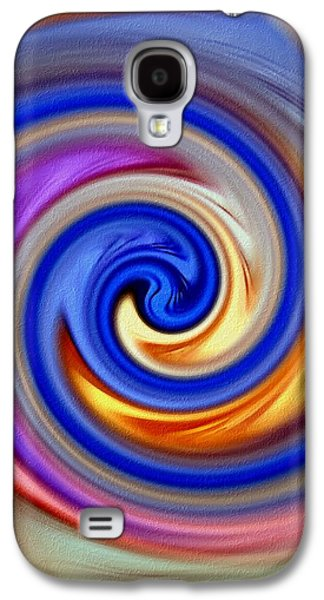 Abstract Digital Pastels Galaxy S4 Cases - Soft Swirl With Oils V B Galaxy S4 Case by Gert J Rheeders