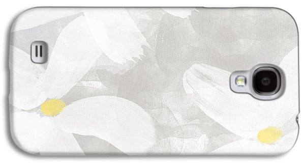 Soft White Flowers Galaxy S4 Case by Linda Woods
