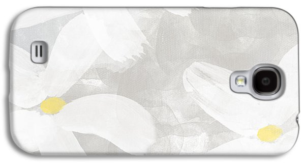 Flower Design Galaxy S4 Cases - Soft White Flowers Galaxy S4 Case by Linda Woods
