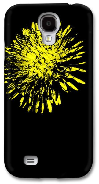 Abstract Digital Digital Galaxy S4 Cases - Soft Yellow Dandelion Galaxy S4 Case by Heather Joyce Morrill