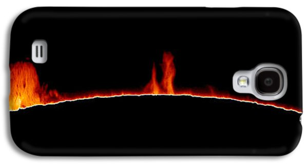 Sun Galaxy S4 Cases - Solar Prominences Galaxy S4 Case by Greg Piepol and Photo Researchers