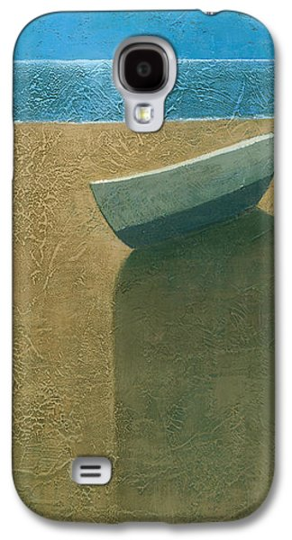 Beach Landscape Galaxy S4 Cases - Solitary Boat Galaxy S4 Case by Steve Mitchell