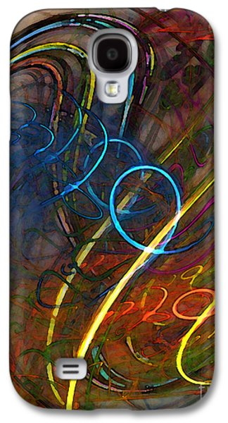 Modern Abstract Galaxy S4 Cases - Some Critical Remarks Abstract Art Galaxy S4 Case by Karin Kuhlmann
