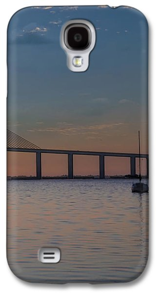 Sunshine Skyway Bridge Galaxy S4 Cases - Something About a Sunrise Triptych 3 Galaxy S4 Case by Bill Cannon