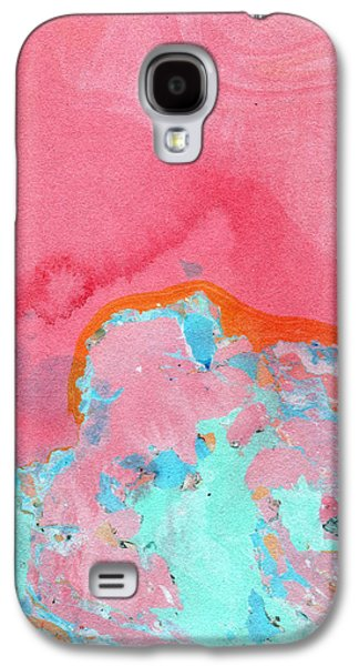 Marble Galaxy S4 Cases - Somewhere New- Abstract Art by Linda Woods Galaxy S4 Case by Linda Woods