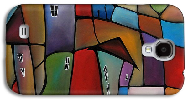 Wine Deco Art Galaxy S4 Cases - Somewhere Else - Abstract Pop Art by Fidostudio Galaxy S4 Case by Tom Fedro - Fidostudio