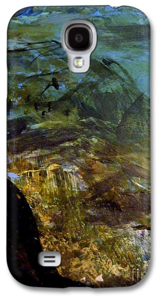 Blue Abstracts Galaxy S4 Cases - Somewhere in the World Galaxy S4 Case by Nancy Kane Chapman