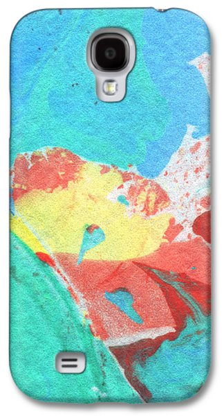 Marble Galaxy S4 Cases - Somewhere New 3- Abstract Art by Linda Woods Galaxy S4 Case by Linda Woods