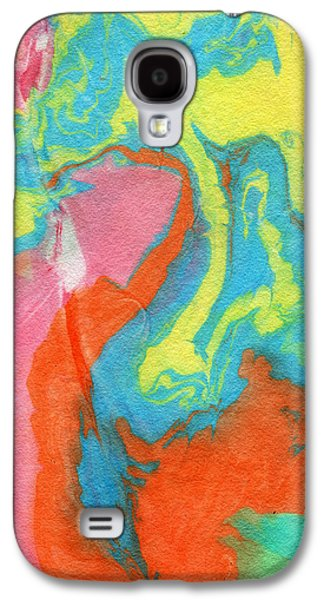 Marble Galaxy S4 Cases - Somewhere New 5- Abstract Art by Linda Woods Galaxy S4 Case by Linda Woods