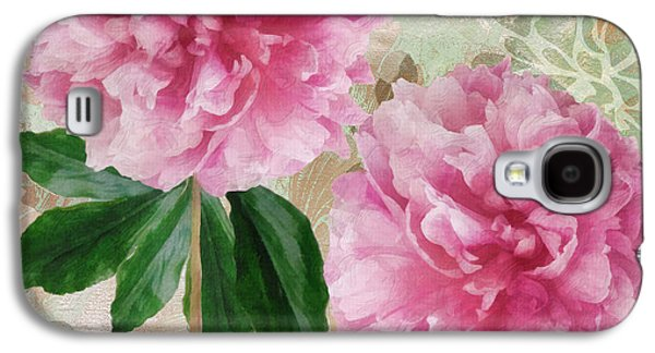 Sonata Pink Peony I Galaxy S4 Case by Mindy Sommers