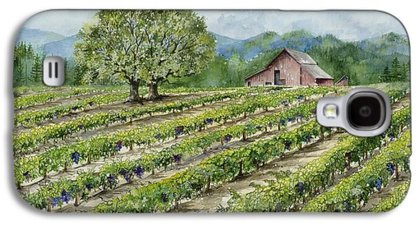 Sonoma County Vineyards. Galaxy S4 Cases - Sonoma County Vineyard Galaxy S4 Case by Virginia McLaren