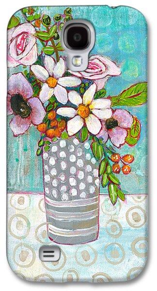 Sophia Daisy Flowers Galaxy S4 Case by Blenda Studio