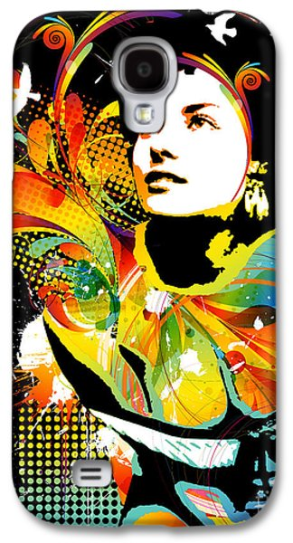 Abstract Digital Mixed Media Galaxy S4 Cases - Soul Explosion II Galaxy S4 Case by Chris Andruskiewicz