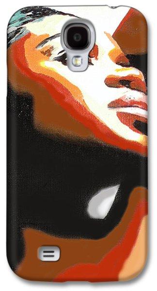 Headshot Galaxy S4 Cases - Soul Sista Galaxy S4 Case by  Fli Art