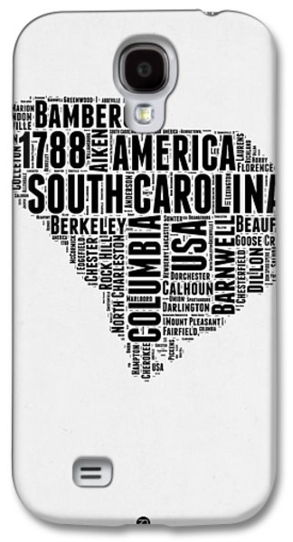 4th Of July Mixed Media Galaxy S4 Cases - South Carolina Word Cloud 1 Galaxy S4 Case by Naxart Studio