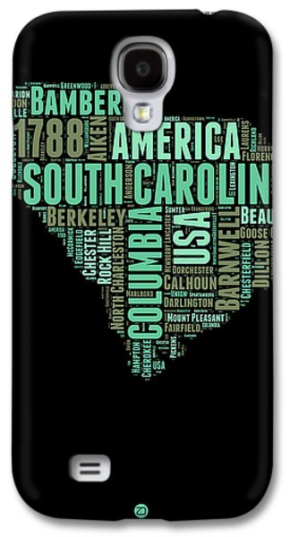 4th Of July Mixed Media Galaxy S4 Cases - South Carolina Word Cloud 2 Galaxy S4 Case by Naxart Studio