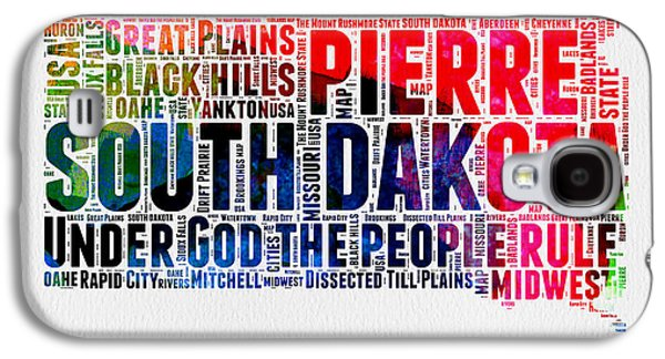 South Dakota Watercolor Word Cloud Galaxy S4 Case by Naxart Studio