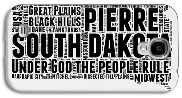 4th Of July Mixed Media Galaxy S4 Cases - South Dakota Word Cloud 1 Galaxy S4 Case by Naxart Studio