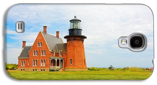 New England Lighthouse Paintings Galaxy S4 Cases - Southeast Light Block Island Galaxy S4 Case by Lourry Legarde