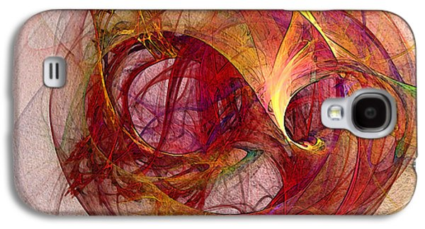 Modern Abstract Digital Art Galaxy S4 Cases - Space Demand Abstract Art Galaxy S4 Case by Karin Kuhlmann